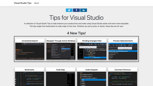Screenshot for .net web app VisualStudioTips.co.uk