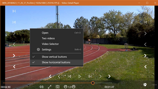 Screenshot for .net desktop app Video Detail Player