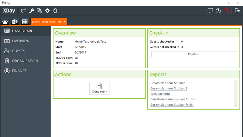 Screenshot for .net desktop app XDay Eventmanagement Software