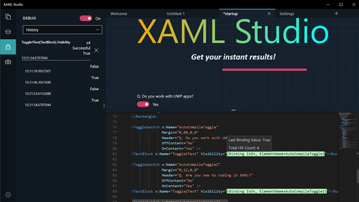 Screenshot for .net developer tool XAML Studio