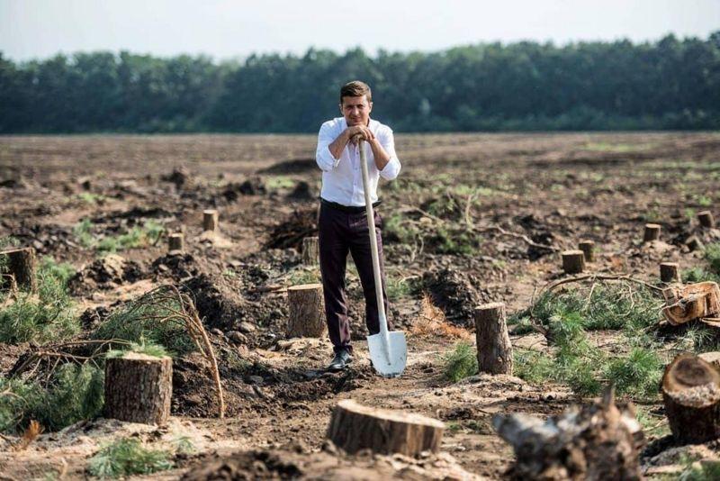 Екологічний проєкт президента (фото: instagram/@sluga95)