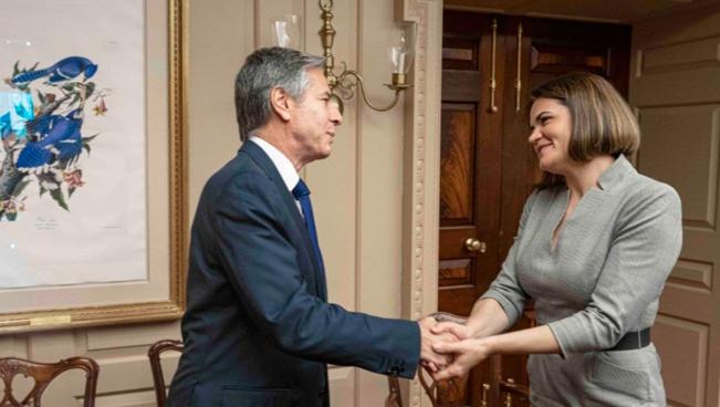 Лідерка білоруської опозиції Світлана Тихановська добилася аудієнції із держсекретарем США Ентоні Блінкеном