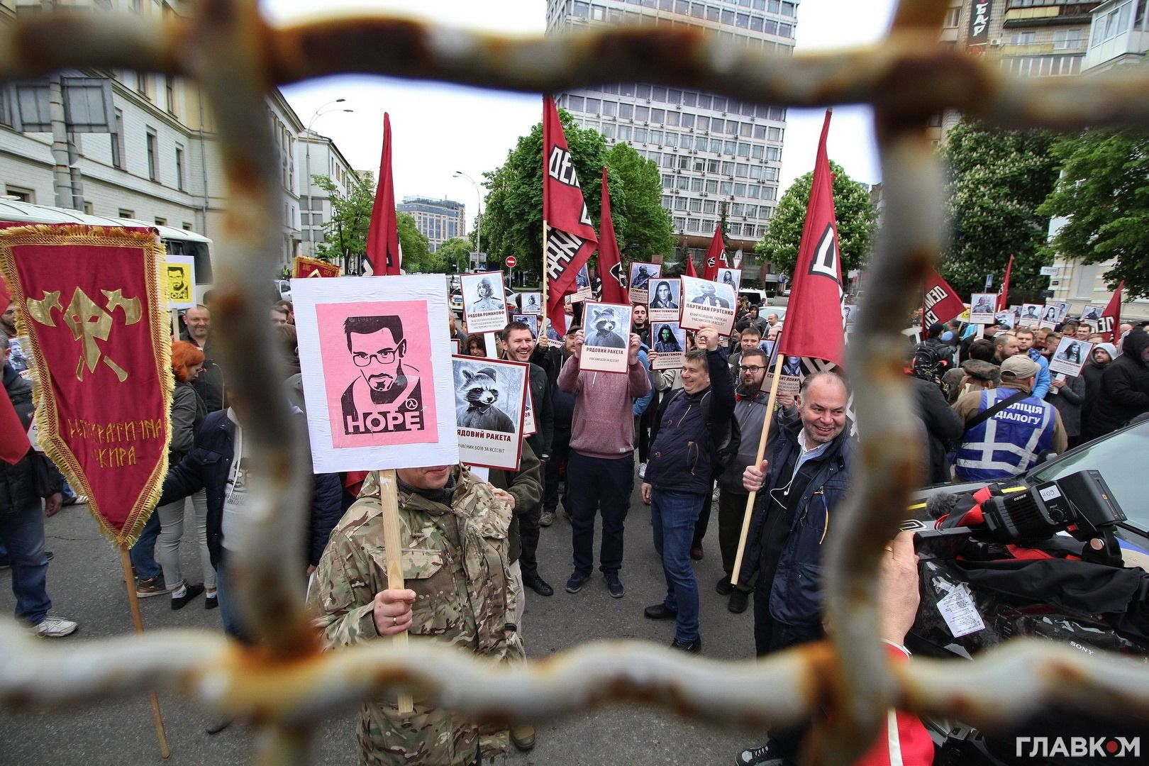 Активісти «Демосокири» у центрі Києва 9 травня 2019 року
