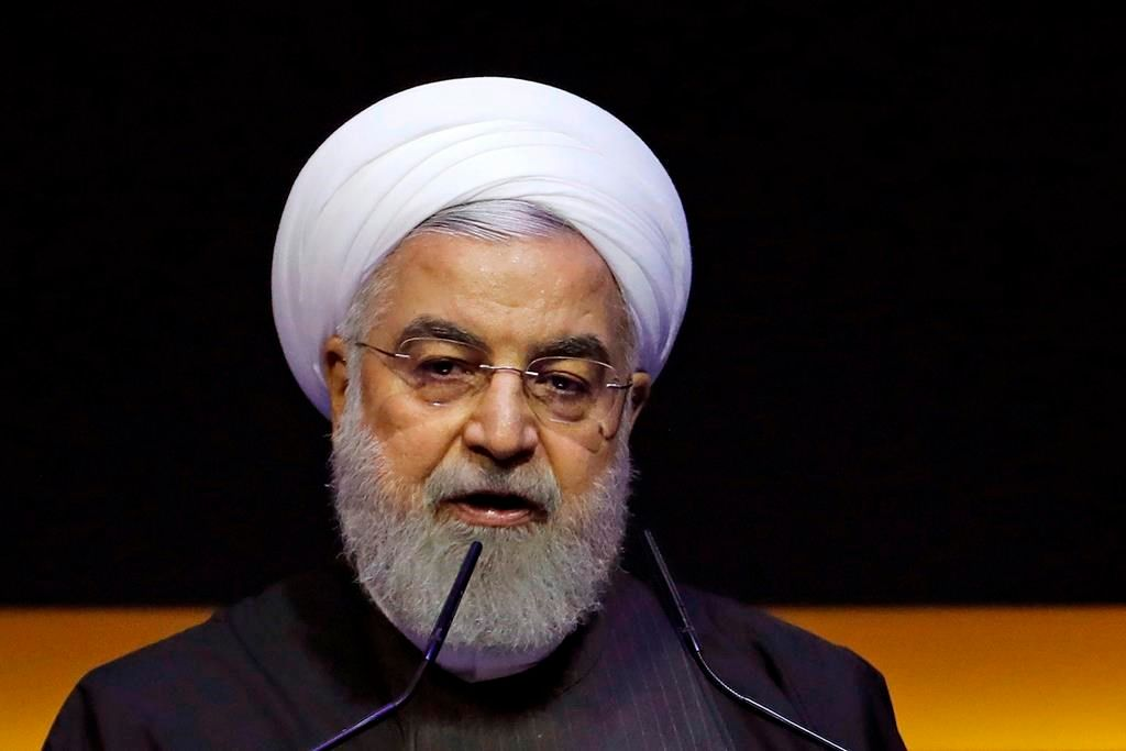 FILE - In this Thursday, Dec. 19, 2019, file photo, Iranian President Hassan Rouhani delivers a speech at the Kuala Lumpur Summit in Kuala Lumpur, Malaysia. .