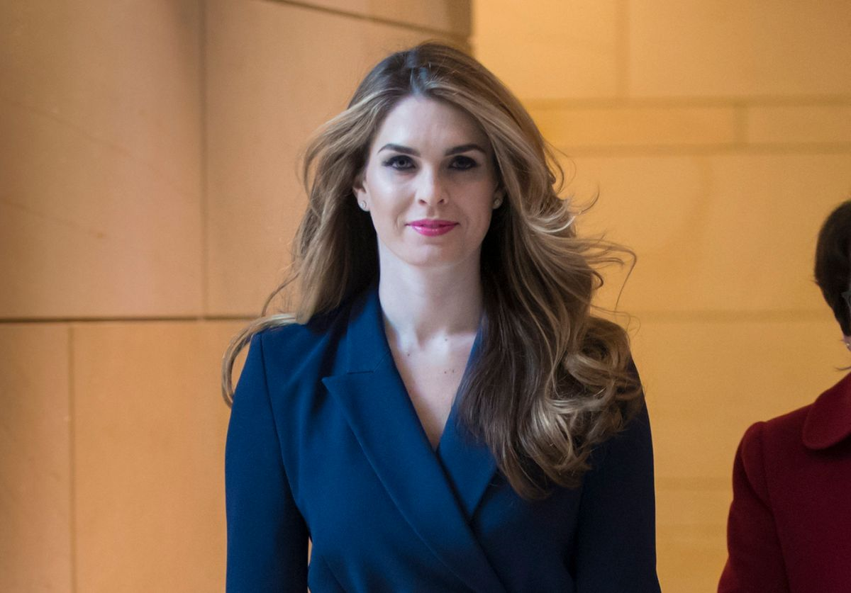 FILE - In this Feb. 27, 2018 photo, White House Communications Director Hope Hicks, arrives to meet behind closed doors with the House Intelligence Committee, at the Capitol in Washington. Hicks, one of President Donald Trump's most trusted and longest-serving aides, is returning to the White House. Hicks will be serving as counselor to the president, working with presidential son-in-law and senior adviser Jared Kushner.