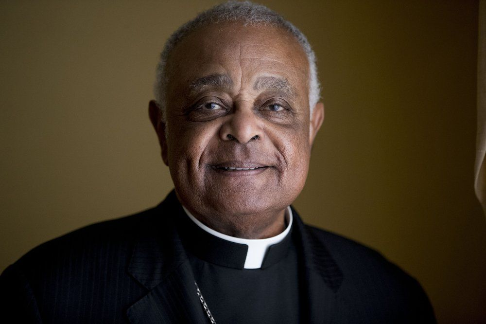 FILE - This Sunday, June 2, 2019, file photo shows Washington D.C. Archbishop Wilton Gregory posed for a portrait following mass at St. Augustine Church in Washington. Pope Francis has named 13 new cardinals, including Washington D.C. Archbishop Wilton Gregory, who would become the first Black U.S. prelate to earn the coveted red cap. In a surprise announcement from his studio window to faithful standing below in St. Peter's Square, Sunday, Oct. 25, 2020, Francis said the churchmen would be elevated to a cardinal's rank in a ceremony on Nov. 28.