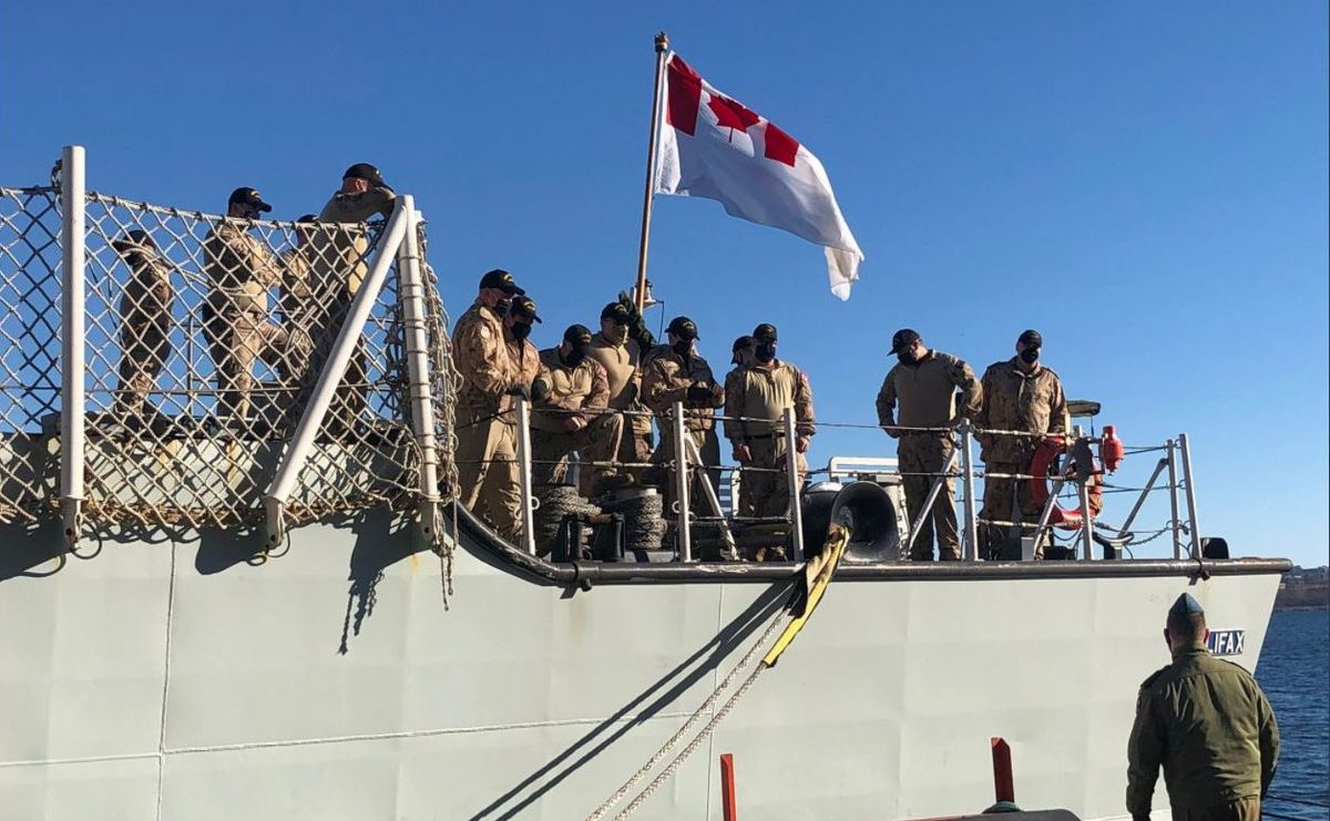 HMCS Halifax with 252 crew members on board set sail at noon on Friday for a a six-month deployment in NATO's Operation Reassurance. .
