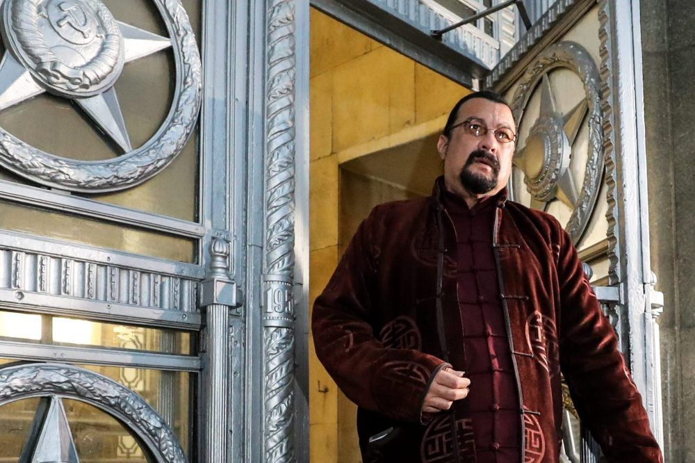 American actor Steven Seagal is shown at the offices of the Russian Foreign Ministry on Nov. 9, 2018.