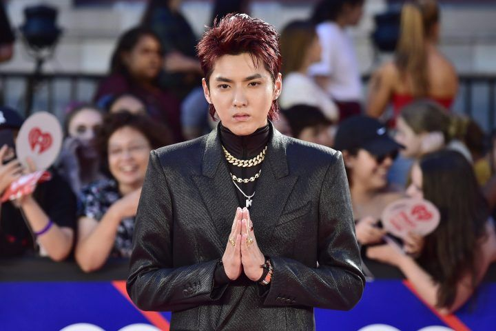 Kris Wu arrives on the red carpet at the iHeartRadio MMVAs in Toronto on Sunday, Aug. 26, 2018.