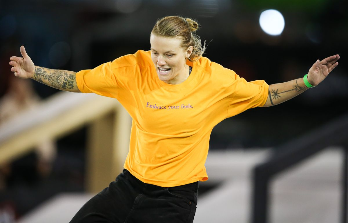 Candy Jacobs of the Netherlands competes during the finals of the WS/SLS 2019 World Championship at Parque Anhembi on September 22, 2019 in Sao Paulo, Brazil.