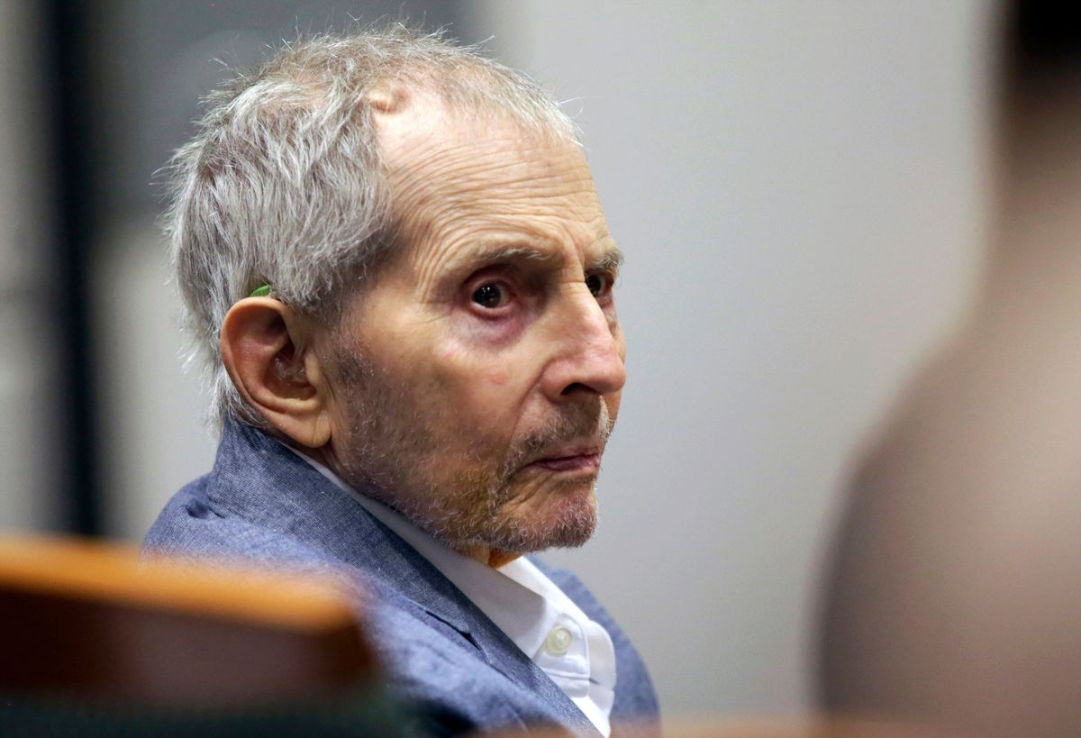 FILE - In this March 10, 2020, file photo, real estate heir Robert Durst looks over during his murder trial in Los Angeles. A judge on Monday, June 14, 2021, ordered that the murder trial of the multimillionaire real estate heir will continue, despite defense requests for a delay because he's in too much pain. Durst's lawyers argued that he was in such pain from a urinary tract infection and other undiagnosed issues that he couldn't even stand up to to dress for court. (AP Photo/Alex Gallardo, Pool, File).