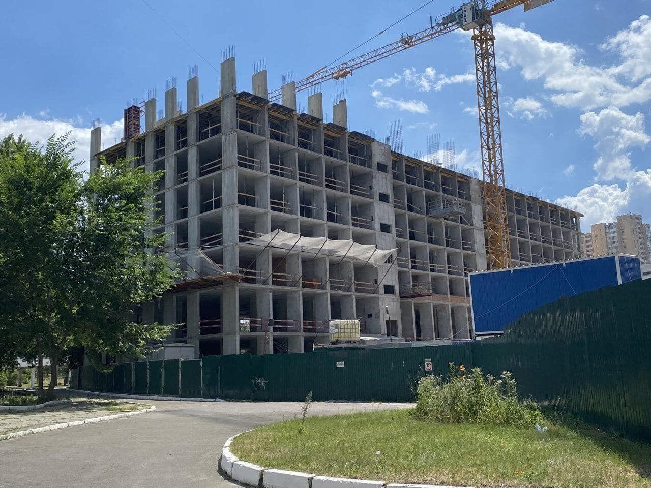 Строительство ЖК по состоянию на июль
