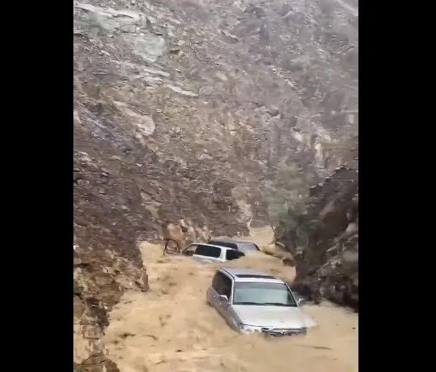 Река унесла как минимум четыре Toyota LC.