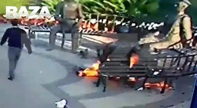 Прохожий не смог потушить огонь.