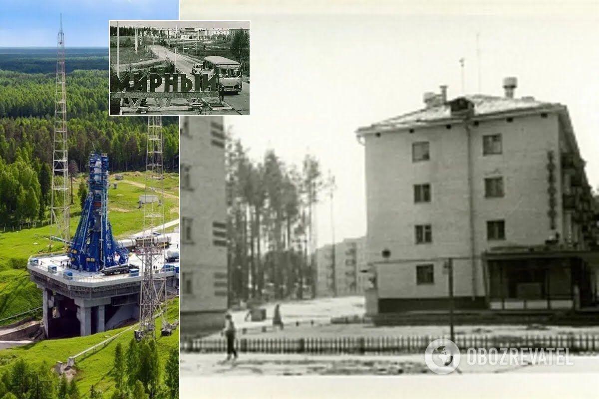 В городе Мирный расположен испытательный космодром Плесецк