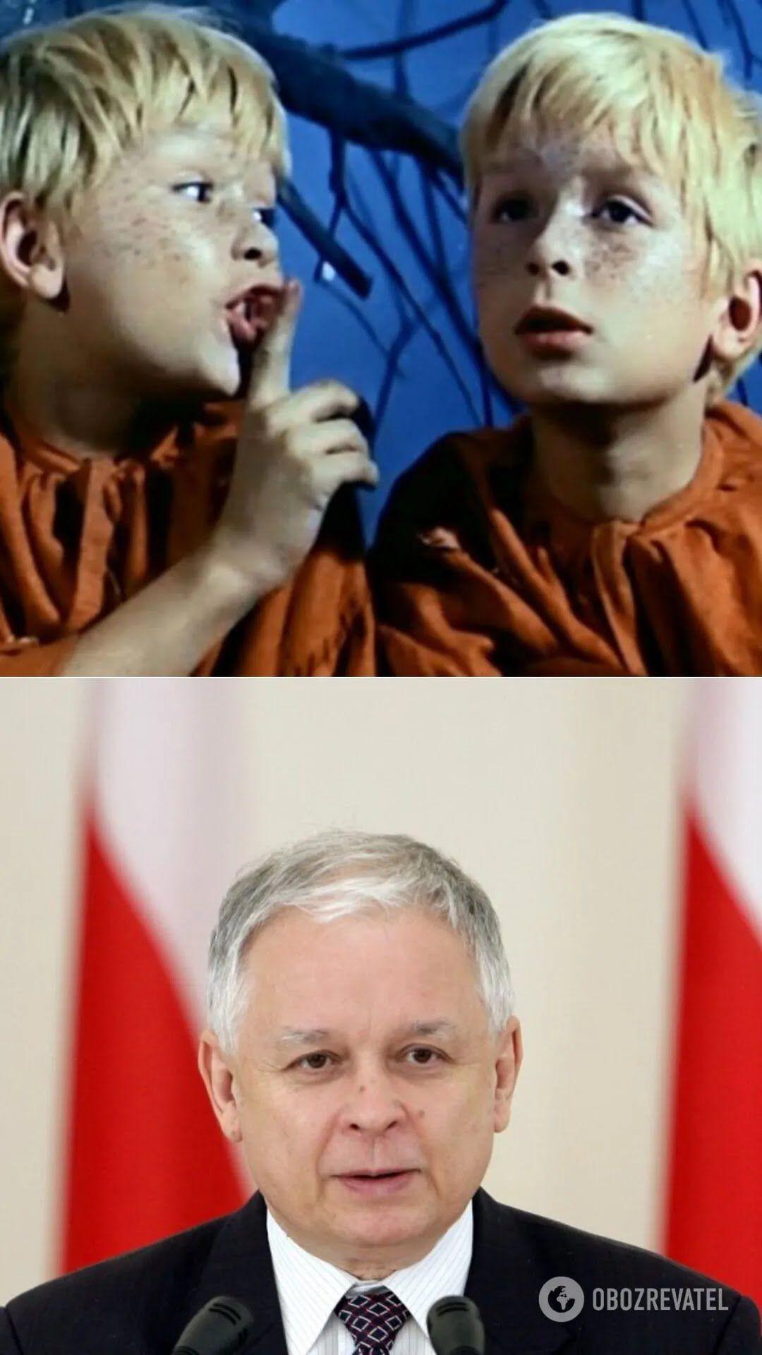 Актер одного фильма в детстве Лех Качиньский – президент Польши(2005-2010 гг.)