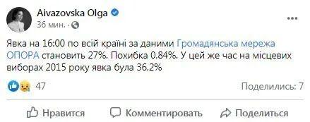 Facebook Ольги Айвазовской.