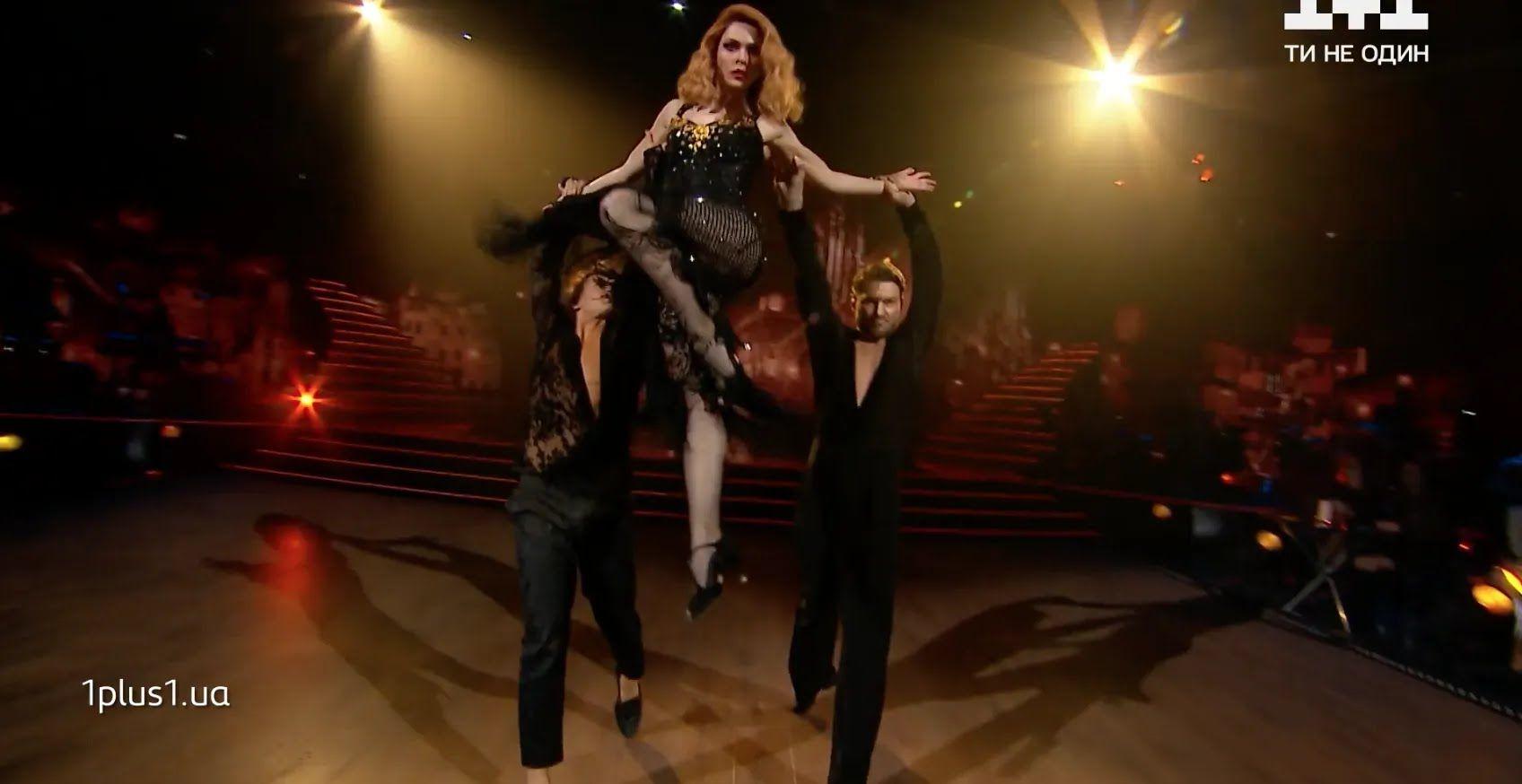 Санина станцевала танго с Дикусаром и Жуком.
