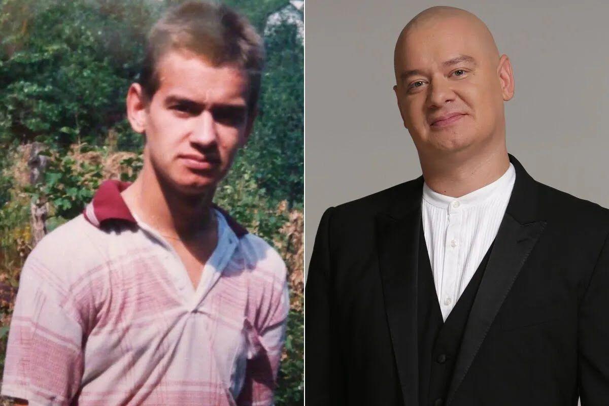 Євген Кошовий у молодості й зараз