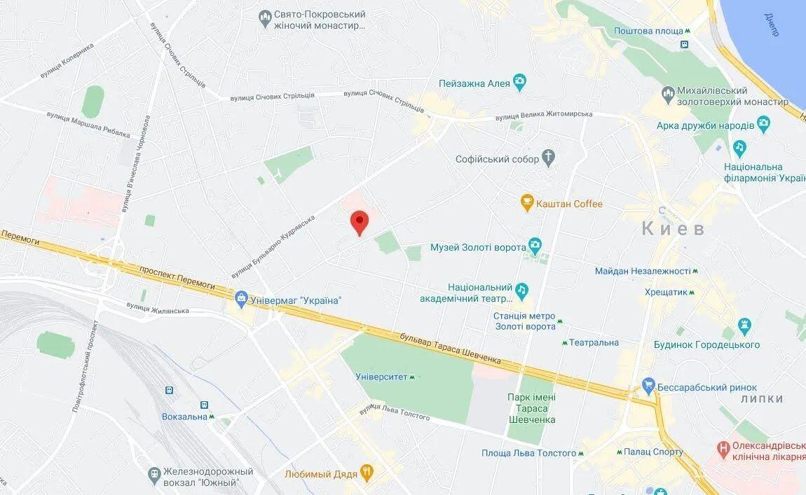 Инцидент произошел в Шевченковском районе столицы на ул. Гончара