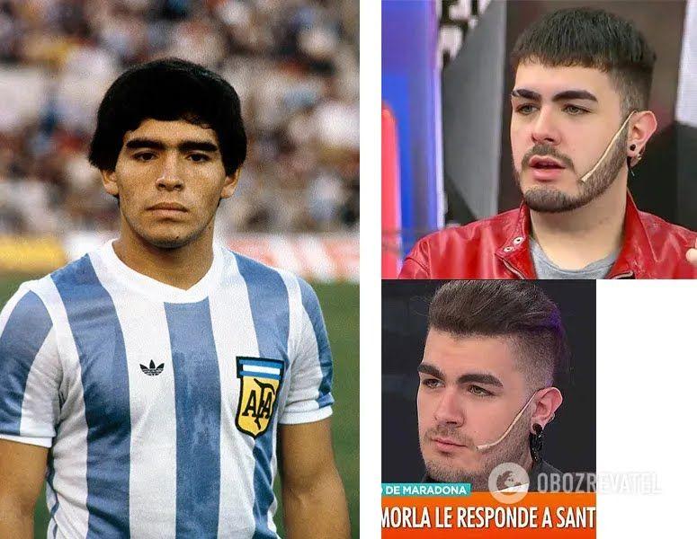 Диего Марадона (1979 год) и Сантьяго Лара