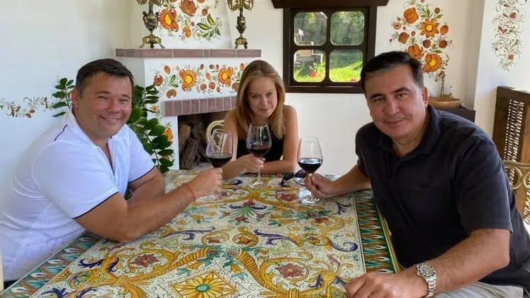 Михаил Саакашвили, Елизавета Ясько и Андрей Богдан