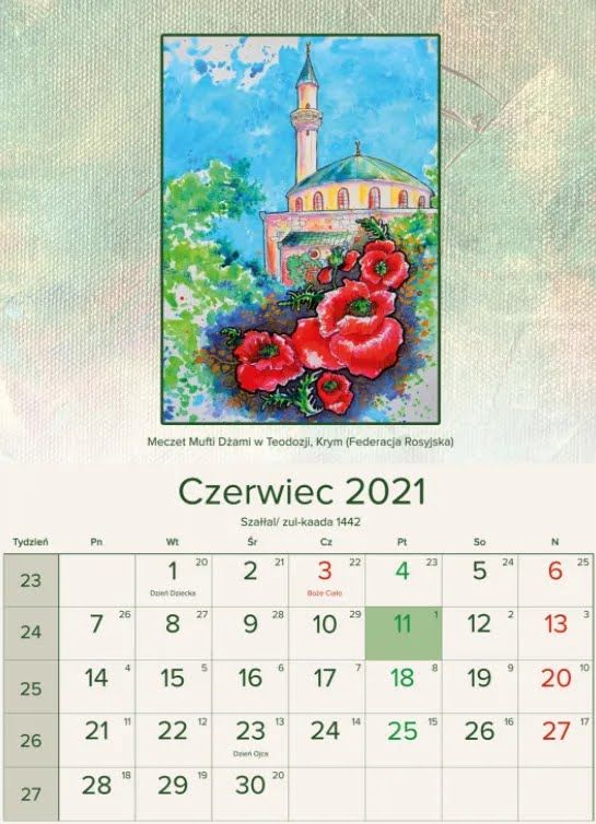 Одна из страниц польского календаря, где Крымский полуостров назвали территорией России.