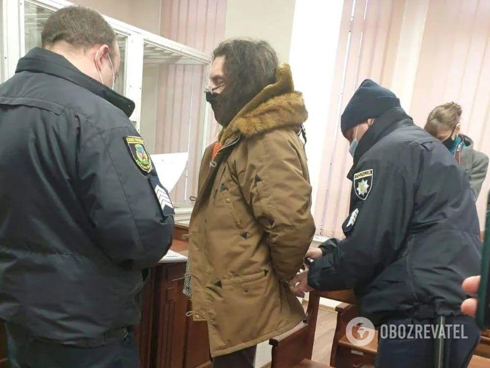 Александр Ктиторчук в Святошинском районном суде Киева 28 ноября 2020 г.