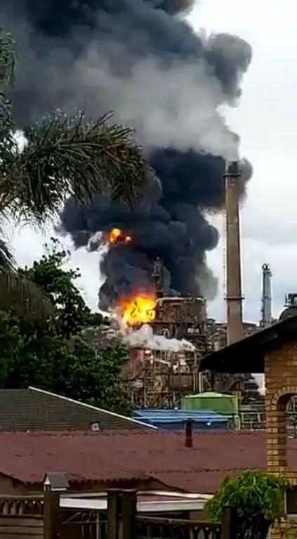 Взрыв и пожар на заводе Engen
