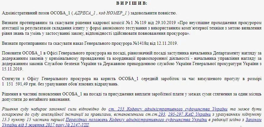 Решение админсуда Киева