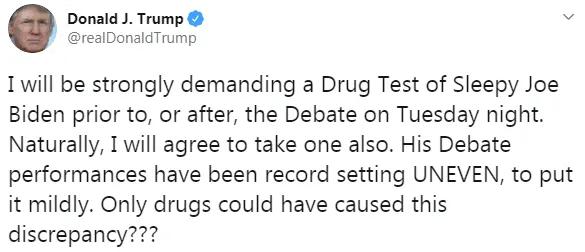 Сообщение Трампа в Twitter.
