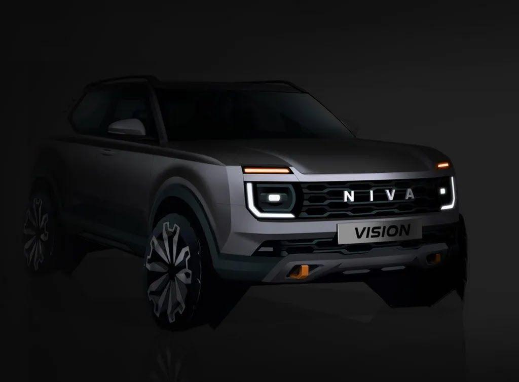 Тизер нового поколения Lada Niva