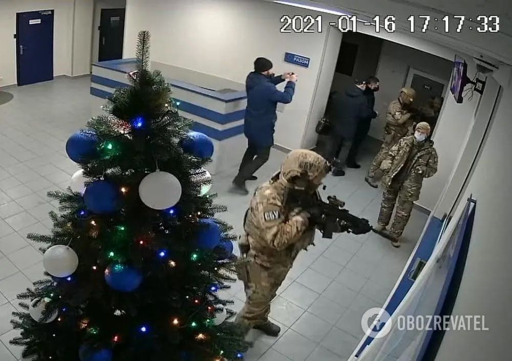"""""""Альфачи"""" в отделе полиции в Боярке"""