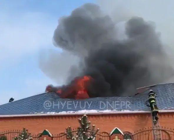 В Новоалександровке загорелась церковь