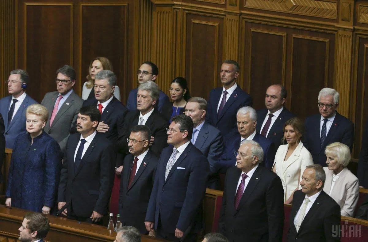 Четыре президента Украины Петр Порошенко, Виктор Ющенко, Леонид Кучма и Леонид Кравчук