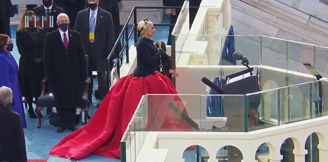 Леди Гага на инаугурации Байдена