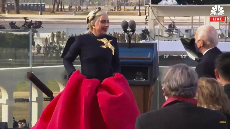 Платье Леди Гаги на инаугурации