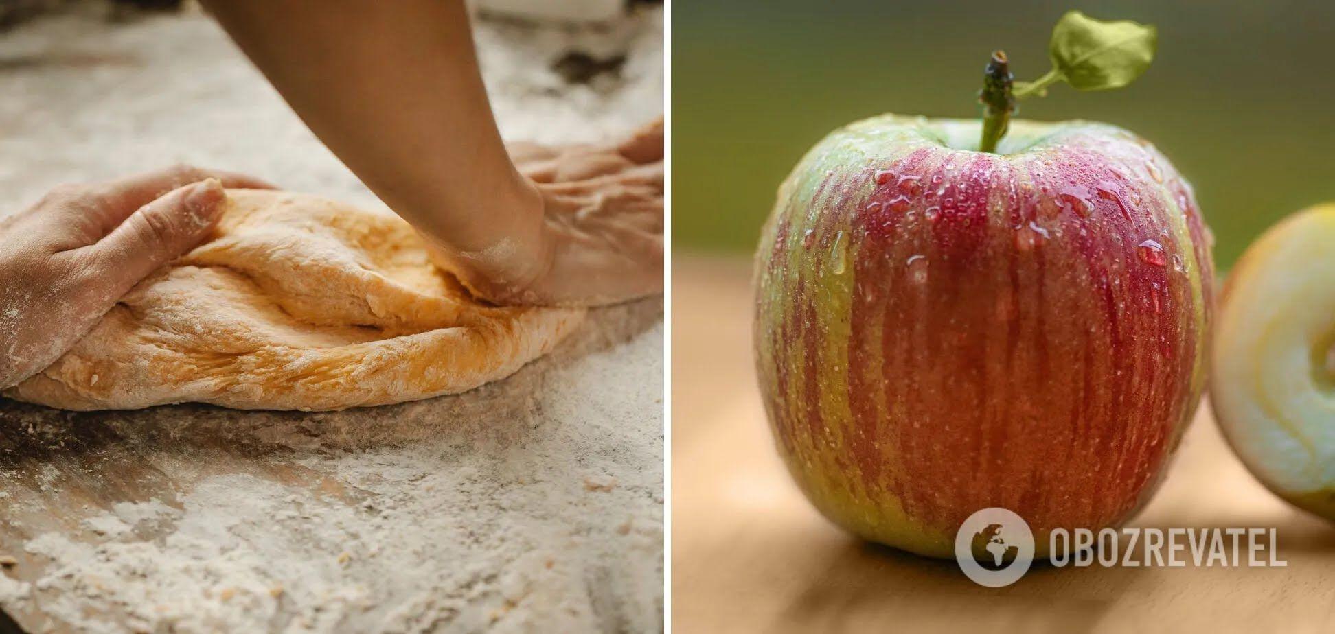 Технология приготовления теста для пирога с яблоками