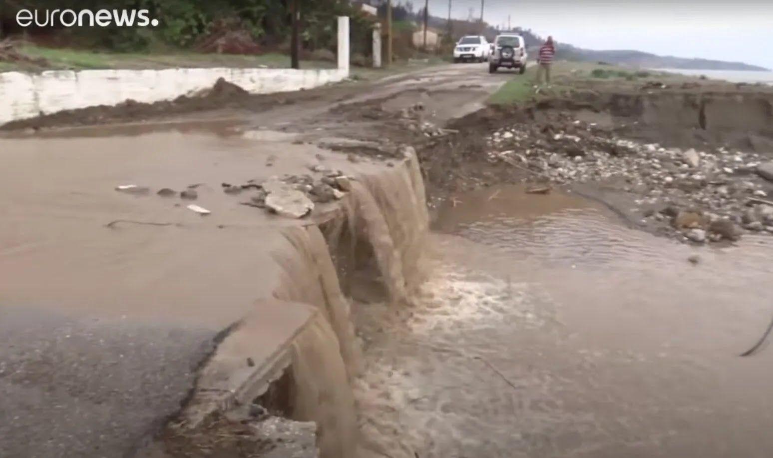 Наводнения в Греции.