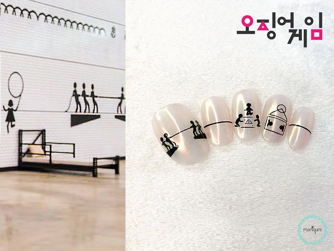 Дизайн нігтів із відсиланням до серіалу