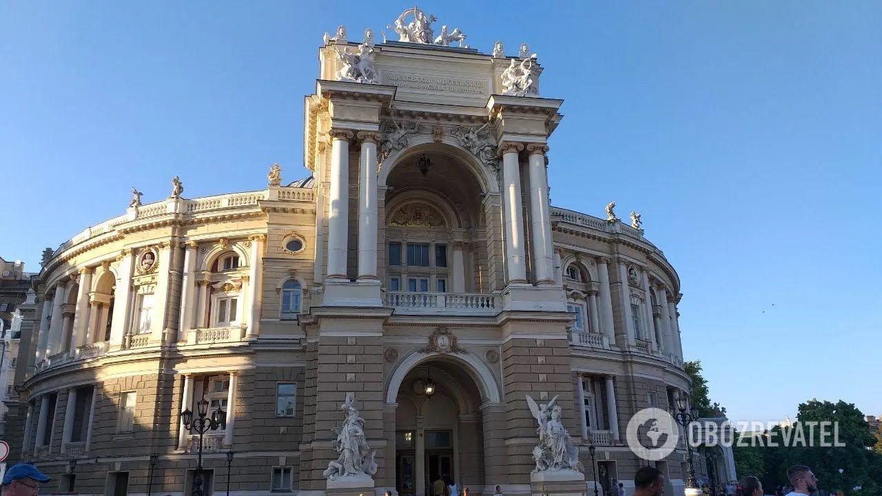 Одеська опера - це витвір архітектурного мистецтва.