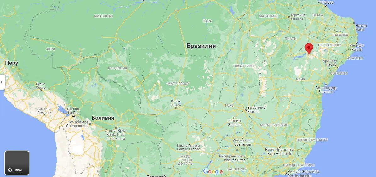 Місто Петроліна на мапі