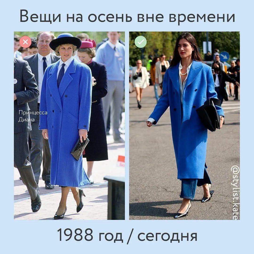 Класичне синє пальто.