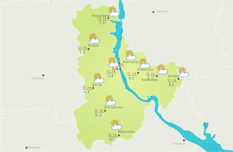 Погода в Киев 15 октября