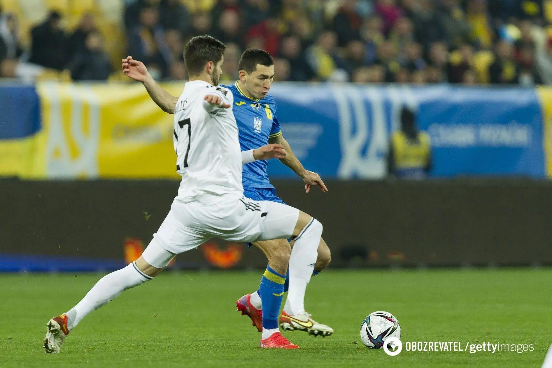 Тарас Степаненко в матчі Україна – Боснія і Герцеговина