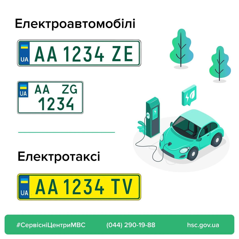 Номерний знак для електромобілів