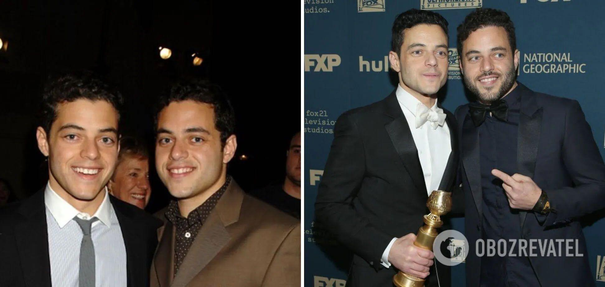 Актер Рами Малеки с братом-близнецом похожи, как две капли.