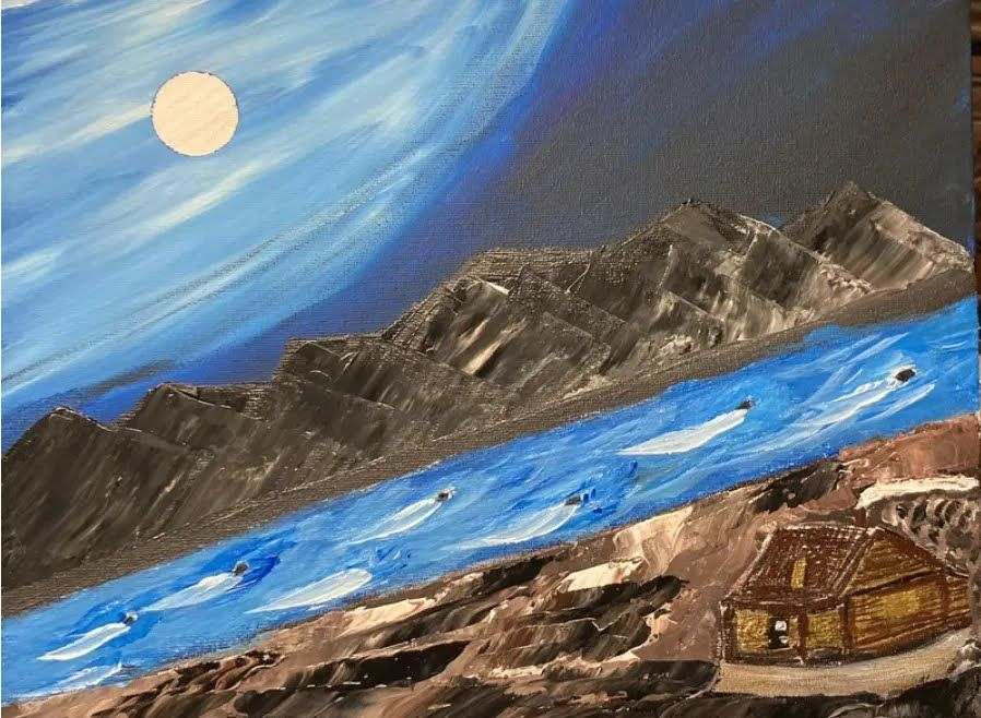 Картина Омара бен Ладена.