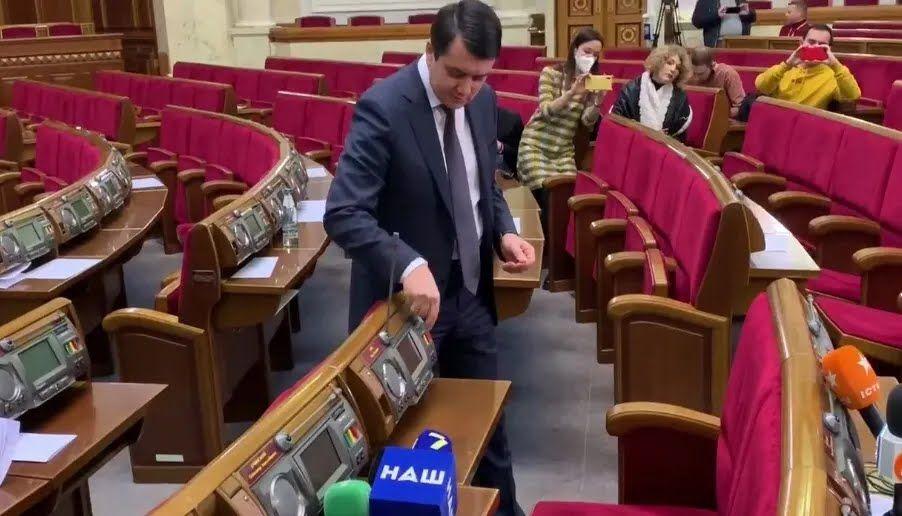 Разумков объяснил особенности сенсорной кнопки в Раде.
