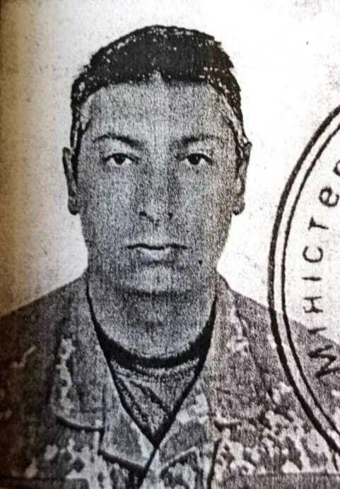 Военный Барнич, погибшего на востоке Украины.
